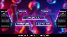 Buy Neon Lower Thirds by MondayMotion on VideoHive. Party Font, Lower Thirds, Neon Nights, Text You, Caption, Rave, Glow, 10 Seconds, Logos