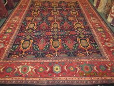 "#33: 8'5"" x 11'4"" Persian Bijar in an antique Garrus Design. Perfect and available. Call for pricing."