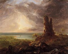 Romantic Landscape with Ruined Tower, 1832 - 1836 - Thomas Cole