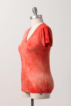 Zavella bamboo short sleeve in coral