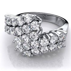 Diamantring mit 1.25 Karat Diamanten in 585er Weißgold