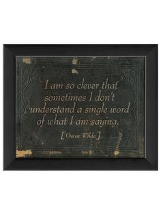 I Am So Clever by Artwork Enclosed on Gilt Home