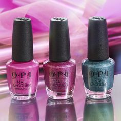 Made. To. Party. 🎊 3 showstopping shades from #OPICelebration you won't want to miss this holiday season! #BigBowEnergy, #MylarDreams, and #ReadyFeteGo. #ColorIsTheAnswer #OPINailLacquer #PowerOfColor #BrightNails #BrightMani #PinkNails #PinkMani #PartyNails #HolidayNails #FestiveNails #NailGoals #WeekendNails #TrendyNails