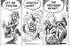 Zapiro: Maharaj puts a spin on Zuma - Mac should be playing at Wanderers today except he is not fit for anything like that.