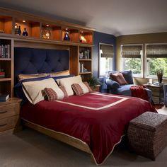sarah richardson tween boys bedroom | 37,649 trophy shelf Home Design Photos