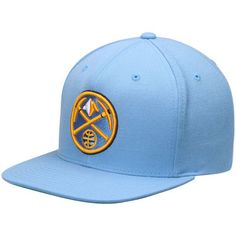 check out bce8c cc7b3 Men s Mitchell   Ness Light Blue Denver Nuggets Current Logo Wool Solid  Snapback Adjustable Hat
