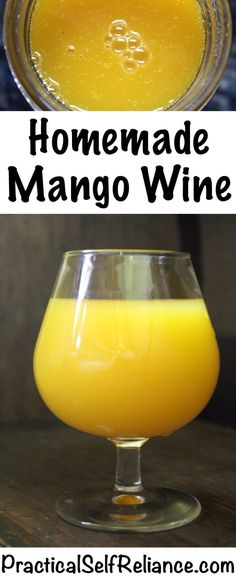 Mango Wine ~ Small Batch Recipe Mango Wine ~ Small Batch Recipe — Practical Self Reliance Homemade Wine Recipes, Homemade Alcohol, Homemade Liquor, Mango Wine, Mango Drinks, Slushies, Energy Drinks, Gin Und Tonic, Wine Yeast