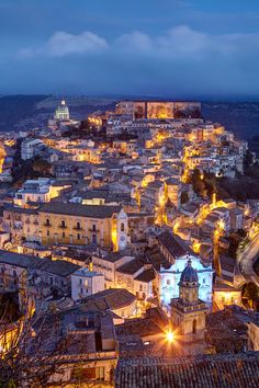 Ragusa Ibla by night in Sicily by Massimo Pizzotti - Photo 153360407 - 500px
