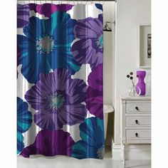 Formula Giant Floral Shower Curtain 70 X 72