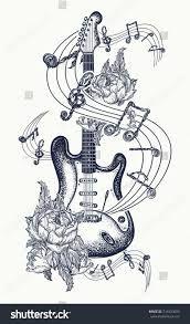 """Résultat de recherche d'images pour """"guitar tattoo with flowers"""""""