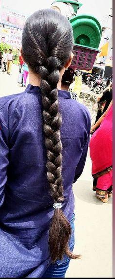 Indian Hairstyles, Braided Hairstyles, Indian Long Hair Braid, Oily Hair, Beautiful Braids, Braids For Long Hair, Hair Oil, Cake Art, Desi