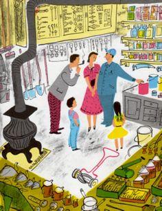 A classic mid-century illustration by Roger Duvoisin