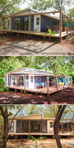 Shipping Container Home Designs, Container House Design, Tiny House Design, Building A Container Home, Container Buildings, Tiny House Cabin, Tiny House Living, Eco Construction, House Goals