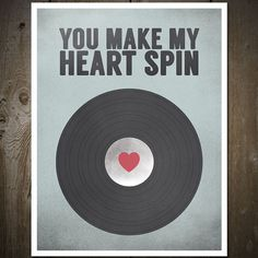 Vinyl Record, Music Print, Music Poster, Anniversary Print Poster, Love Sign