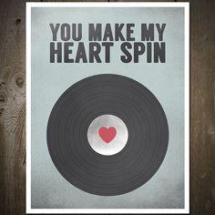 Vinyl-LP Musik Print Poster von otsutree auf Etsy