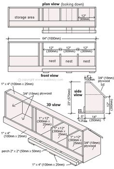 chicken coop nesting box plans