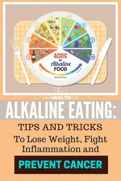 Alkaline Eating: Tips and Tricks To Lose Weight, Fight Inflammation and Prevent Cancer via /dailyhealthpost/ | http://dailyhealthpost.com/alkaline-eating-tips/