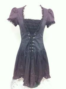 dark grey with black lace dress by Lip Service