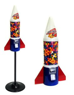 Buy Mini Rocket Gumball Machine - Vending Machine Supplies For Sale Beautiful Morning Quotes, Bubble Gum Machine, Minecraft Room, Baby Doll Nursery, Cash Box, Pokemon Toy, Gumball Machine, Vending Machine, To Infinity And Beyond