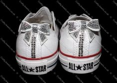 Swarovski or Diamante Crystal Adult Lo Top Converse In White Bling Shoes, Glitter Shoes, Prom Shoes, Wedding Shoes, Bling Wedding, Converse Sneakers, Converse All Star, Huarache, Sparkly Converse