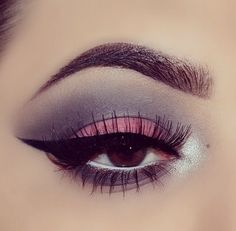 Dusky pink and grey eyeshadow