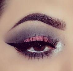 Dusky pink and grey eyeshadow #eye #makeup #eyes #eyeshadow #smokey
