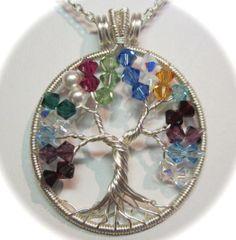 Swarovski Crystal Birthstone Tree of Life by Mariesinspiredwire, $45.00