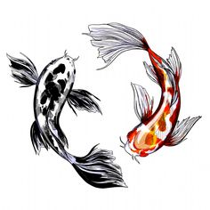 Koi Fish Drawing, Koi Fish Tattoo, Fish Drawings, Art Drawings, Carp Tattoo, Tattoo Sketches, Tattoo Drawings, Art Sketches, Sketch Drawing