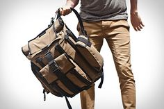 The Mission Workshop Arkiv® Field Packs allow for the secure and simple attachment of weatherproof accessories to the exterior of the backpack. Mission Workshop, Canvas Leather, Waxed Canvas, Classy Outfits, Classy Clothes, Swagg, Well Dressed, Menswear, Backpacks