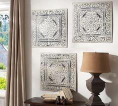 doesn't really match anything in my house but cute idea - vintage tin tiles