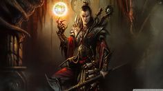 This HD wallpaper is about mage video games men fantasy art armor magic wizards sorcerer artwork diablo iii wallpa Abstract Fantasy HD Art, Original wallpaper dimensions is file size is