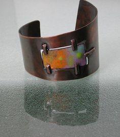 Pastel Copper and Enamel Mid Century by SilverSeahorseDesign