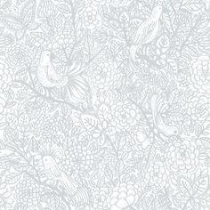 Garambola by Vallila - Grey : Wallpaper Direct Butterfly Wallpaper, Kids Wallpaper, Wallpaper Roll, Wall Wallpaper, Pattern Wallpaper, Grey Wallpaper Birds, Leopard Wallpaper, Bedroom Wallpaper, Beautiful Wallpaper