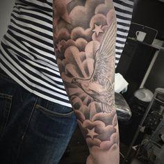 Half Sleeve Cloud Tattoo Designs Tat Ideas Tattoos Cloud Tattoo