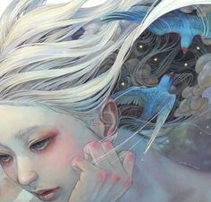 Image in Art/anime/manga girls 💇👰👯 collection by Hinakochan ~ Art Inspo, L'art Du Portrait, Japanese Artwork, Art Japonais, Art Et Illustration, Japan Art, Japanese Artists, Pics Art, Surreal Art