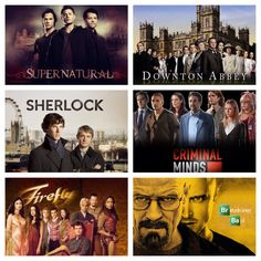 day 4 favorite shows: Downton Abbey, Sherlock, Supernatural, Firefly, Breaking Bad, and Criminal Minds