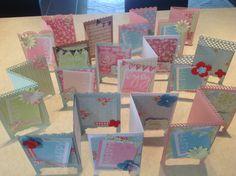 Lovely tri fold cards