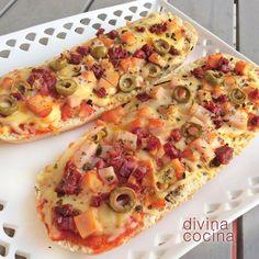 Con esta receta de bocapizza puedes preparar a tu estilo cualquier variedad que te guste. Piensa en los ingredientes de tu pizza favorita y sigue la receta siempre con la base de tomate y queso.