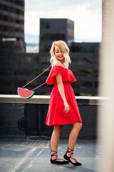 Little red dress for summer