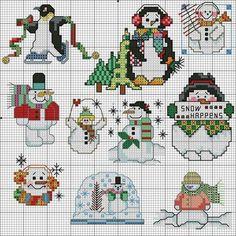 Christmas Mini Cross Stitch, Beaded Cross Stitch, Cross Stitch Kits, Cross Stitch Embroidery, Cross Stitch Patterns, Cross Stitch Christmas Ornaments, Christmas Embroidery, Christmas Cross, Yarn Projects