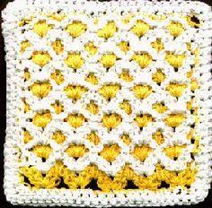 Reversible Lattice Stitch Crocheted Dishcloth