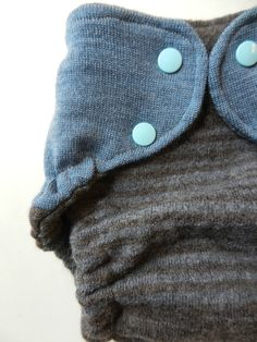 freeBums - Earthy brown and blue - Wool Wrap -Cloth Diaper Cover- One Size -Soaker Nappy Cover. $27.50, via Etsy.