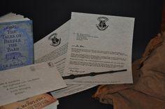 Invitation - Harry Potter Acceptance letter & Hogwarts Express Train ticket - Full Set. $35.00, via Etsy.
