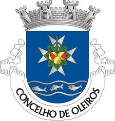 Brasão de Oleiros Portugal, Elmo, Coat Of Arms, Gaia, Badges, Symbols, Villas, Flags, Adhesive