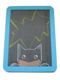 superhero chalkboard... a welcome sign?