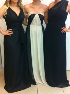 35d91cd473e mix and match bridesmaids dresses  jim hjelm occasions for JLM Couture.  From left to right