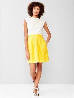 INSPIRATION: Colorblock fit & flare dress | Gap