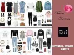 New post on blog! subscribe!  MoonDreams: SEPTEMBER / OCTOBER OUTFITS