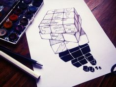 #illustration #ElementEdenArtSearch #rubic #cube