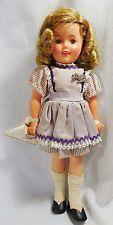 "Shirley Temple Ideal Sleepy Eyes 12"" Doll Purple Dress w/ Purse & Glasses"